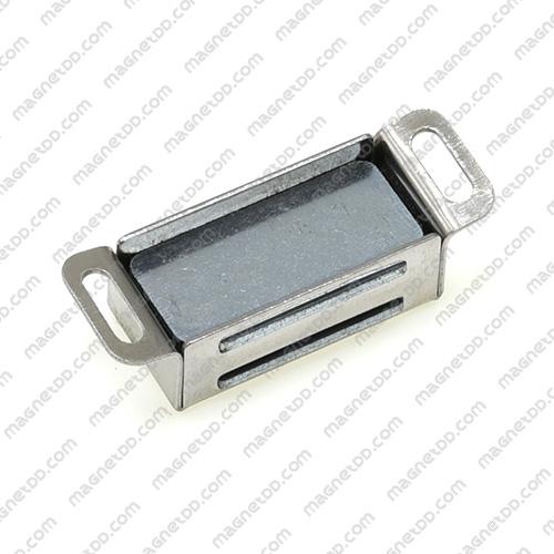 ชุดสลักสัมผัสแม่เหล็ก สแตนเลส 32mm x 15mm x 13mm แม่เหล็กถาวรเฟอร์ไรท์ (แม่เหล็กดำ) Ferrite