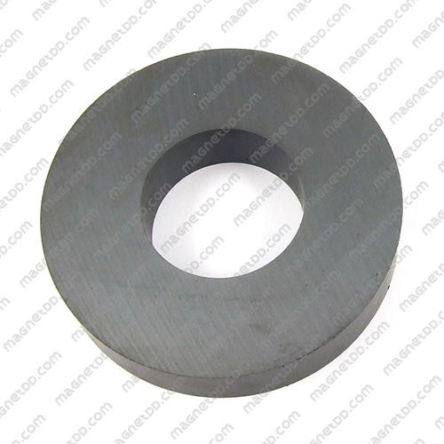 แม่เหล็กเฟอร์ไรท์โดนัท 125mm x 20mm วงใน 60mm แม่เหล็กถาวรเฟอร์ไรท์ (แม่เหล็กดำ) Ferrite