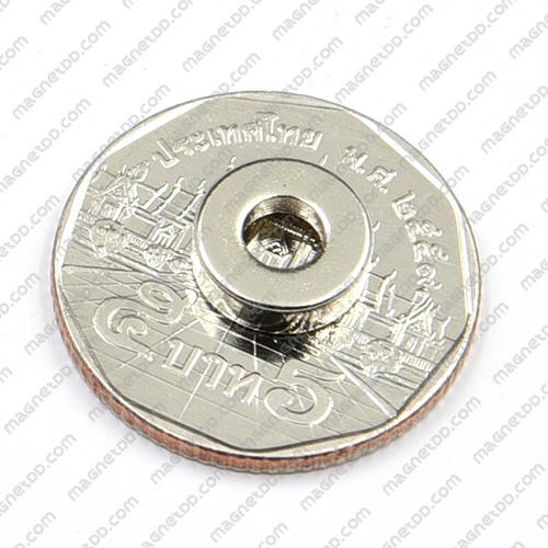 แม่เหล็กแรงสูง Neodymium 10mm x 3mm วงใน 4.5mm แม่เหล็กถาวรนีโอไดเมี่ยม NdFeB (Neodymium)