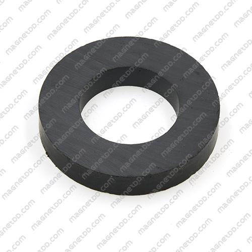 แม่เหล็กเฟอร์ไรท์ 60mm x 10mm วงใน 32mm แม่เหล็กถาวรเฟอร์ไรท์ (แม่เหล็กดำ) Ferrite