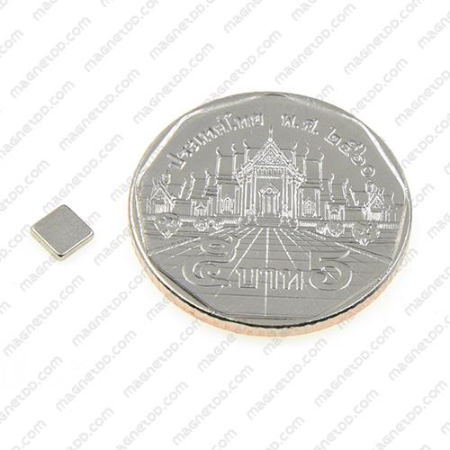 แม่เหล็กแรงสูง Neodymium 4mm x 4mm x 1mm - ชุด 100ชิ้น แม่เหล็กถาวรนีโอไดเมี่ยม NdFeB (Neodymium)