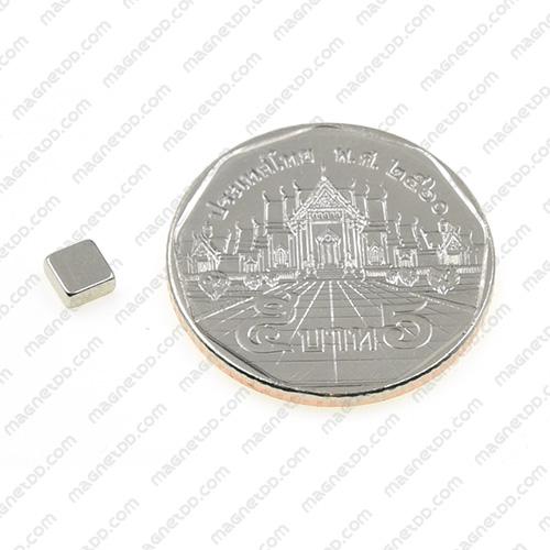 แม่เหล็กแรงสูง Neodymium 4mm x 4mm x 2mm แม่เหล็กถาวรนีโอไดเมี่ยม NdFeB (Neodymium)