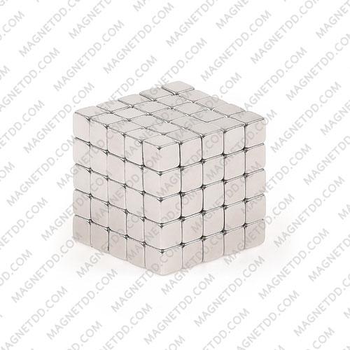 แม่เหล็กแรงสูง Neodymium 2mm x 2mm x 2mm - ชุด 100ชิ้น แม่เหล็กถาวรนีโอไดเมี่ยม NdFeB (Neodymium)