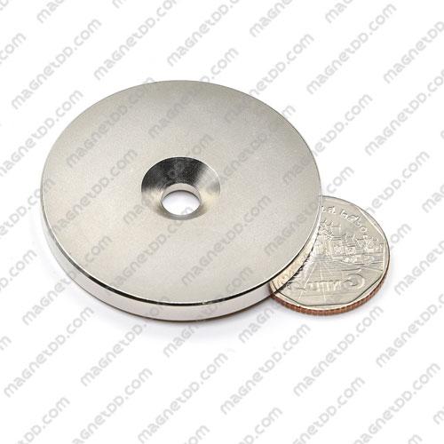 แม่เหล็กแรงสูง Neodymium ขนาด 48mm x 5mm รู 6.5mm แม่เหล็กถาวรนีโอไดเมี่ยม NdFeB (Neodymium)