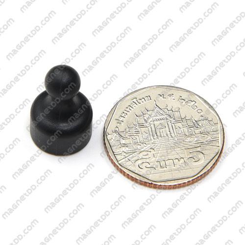 พินแม่เหล็กแรงสูง Magnetic Push Pins 12mm x 20mm สีดำ แม่เหล็กถาวรนีโอไดเมี่ยม NdFeB (Neodymium)
