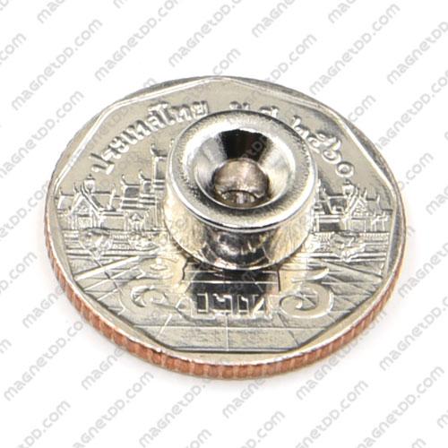 แม่เหล็กแรงสูง Neodymium 10mm x 5mm วงใน 3.5mm แม่เหล็กถาวรนีโอไดเมี่ยม NdFeB (Neodymium)