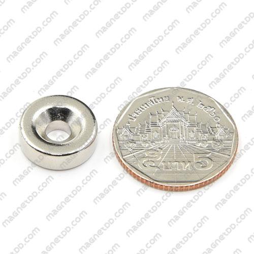 แม่เหล็กแรงสูง Neodymium 15mm x 5mm วงใน 4.8mm แม่เหล็กถาวรนีโอไดเมี่ยม NdFeB (Neodymium)