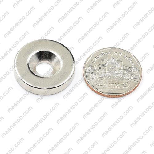 แม่เหล็กแรงสูง Neodymium 25mm x 5mm วงใน 7mm แม่เหล็กถาวรนีโอไดเมี่ยม NdFeB (Neodymium)