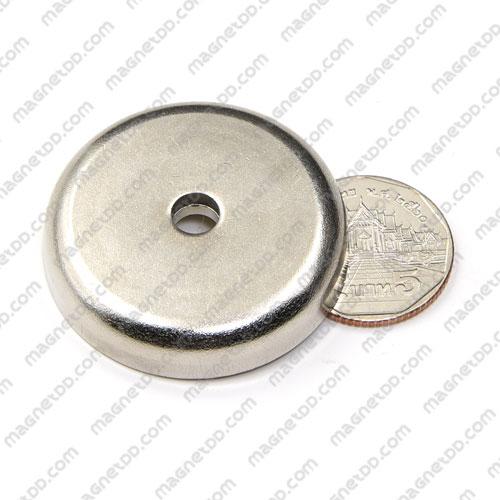 Neodymium Magnetic Cups ขนาด 42mm x 9mm รู 6.5mm แม่เหล็กถาวรนีโอไดเมี่ยม NdFeB (Neodymium)