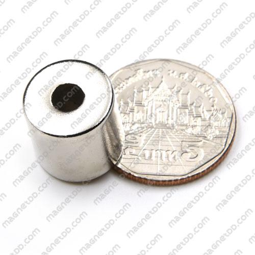 แม่เหล็กแรงสูง ขนาด 15mm x 15mm วงใน 5mm แม่เหล็กถาวรนีโอไดเมี่ยม NdFeB (Neodymium)