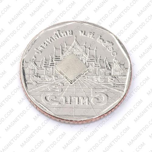 แม่เหล็กแรงสูง Neodymium 5mm x 5mm x 1mm แม่เหล็กถาวรนีโอไดเมี่ยม NdFeB (Neodymium)