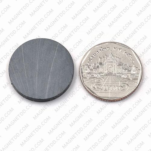 แม่เหล็กเฟอร์ไรท์ Ferrite ขนาด 25mm x 3mm แม่เหล็กถาวรเฟอร์ไรท์ (แม่เหล็กดำ) Ferrite