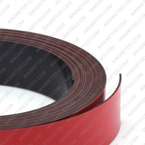 แม่เหล็กยาง เคลือบ PVC ขนาด 20mm x 0.5mm ยาว 25เมตร – สีแดง แม่เหล็กถาวรยาง Flexible Rubber Magnets