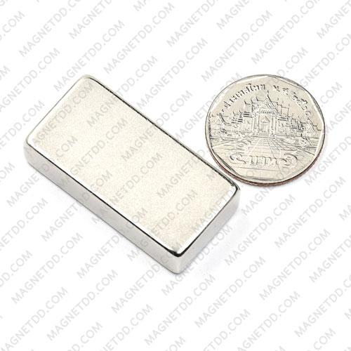 แม่เหล็กแรงสูง Neodymium ขนาด 40mm x 20mm x 10mm แม่เหล็กถาวรนีโอไดเมี่ยม NdFeB (Neodymium)