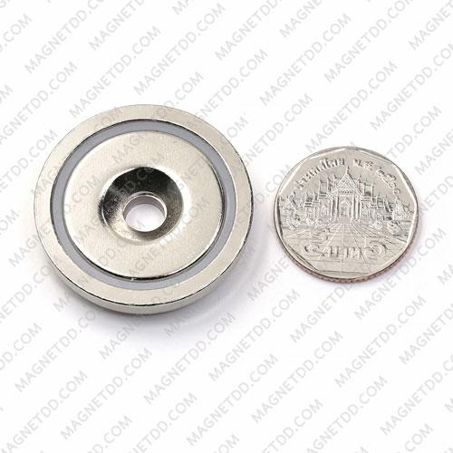 Neodymium Magnetic Cups ขนาด 36mm x 7.6mm รู 6.5mm แม่เหล็กถาวรนีโอไดเมี่ยม NdFeB (Neodymium)
