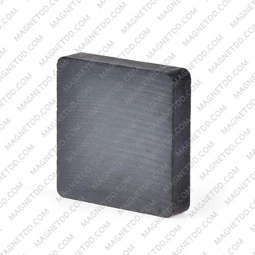 แม่เหล็กเฟอร์ไรท์ 50mm x 50mm x 10mm แม่เหล็กถาวรเฟอร์ไรท์ (แม่เหล็กดำ) Ferrite