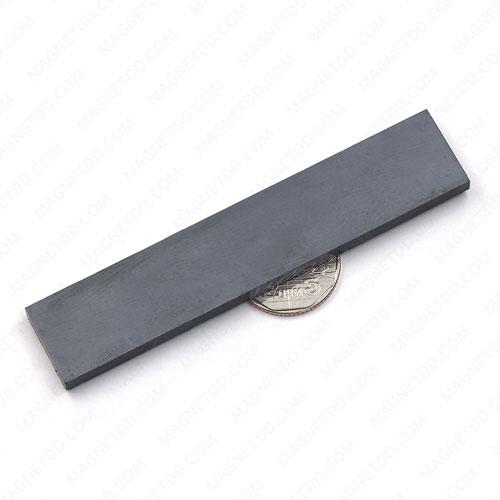 แม่เหล็กเฟอร์ไรท์ 100mm x 20mm x 5mm แม่เหล็กถาวรเฟอร์ไรท์ (แม่เหล็กดำ) Ferrite