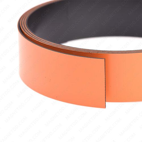 แม่เหล็กยาง เคลือบ PVC ขนาด 25mm x 1mm ยาว 1เมตร - สีส้ม แม่เหล็กถาวรยาง Flexible Rubber Magnets
