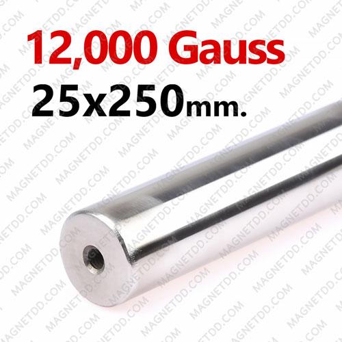 แมกเนติกบาร์ ขนาด 25mm x 250mm Magnetic Bar 12000G รู M6 แม่เหล็กถาวรนีโอไดเมี่ยม NdFeB (Neodymium)
