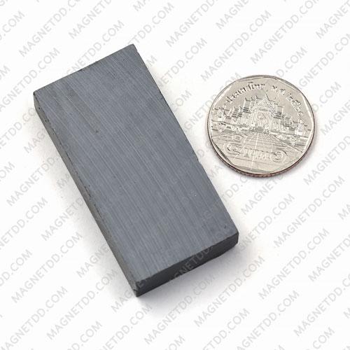 แม่เหล็กเฟอร์ไรท์ Ferrite ขนาด 50mm x 25mm x 10mm แม่เหล็กถาวรเฟอร์ไรท์ (แม่เหล็กดำ) Ferrite