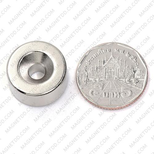 แม่เหล็กแรงสูง Neodymium 20mm x 10mm วงใน 5.5mm แม่เหล็กถาวรนีโอไดเมี่ยม NdFeB (Neodymium)