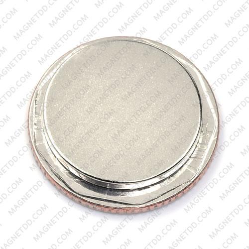 แม่เหล็กแรงสูง Neodymium ขนาด 20mm x 2mm - เกรด B แม่เหล็กถาวรนีโอไดเมี่ยม NdFeB (Neodymium)