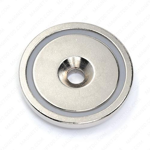 Neodymium Magnetic Cups ขนาด 42mm x 7.6mm รู 6.5mm แม่เหล็กถาวรนีโอไดเมี่ยม NdFeB (Neodymium)