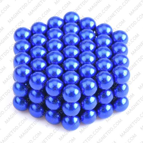 ลูกบอลแม่เหล็กแรงสูง Magnet Ball 5mm - สีน้ำเงิน ชุด 108 ชิ้น แม่เหล็กถาวรนีโอไดเมี่ยม NdFeB (Neodymium)