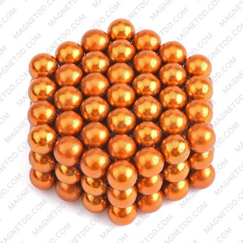 ลูกบอลแม่เหล็กแรงสูง Magnet Ball 5mm - สีส้ม ชุด 108 ชิ้น แม่เหล็กถาวรนีโอไดเมี่ยม NdFeB (Neodymium)