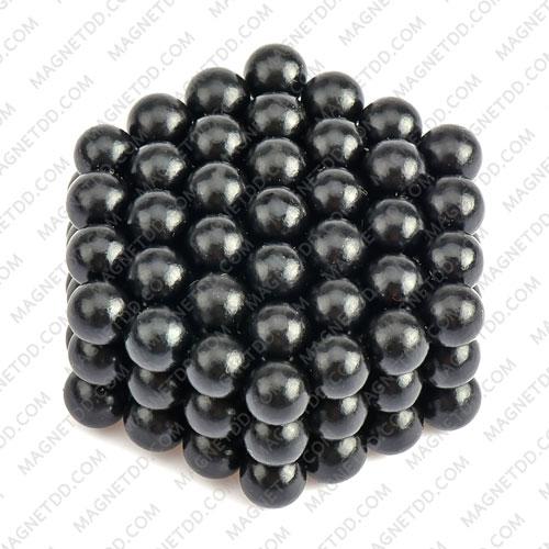 ลูกบอลแม่เหล็กแรงสูง Magnet Ball 5mm - สีดำ ชุด 108 ชิ้น แม่เหล็กถาวรนีโอไดเมี่ยม NdFeB (Neodymium)