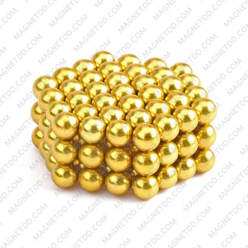 ลูกบอลแม่เหล็กแรงสูง Magnet Ball 5mm - สีเหลือง ชุด 108 ชิ้น แม่เหล็กถาวรนีโอไดเมี่ยม NdFeB (Neodymium)