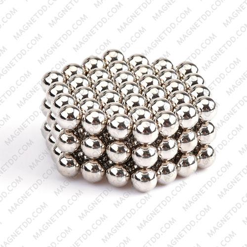 ลูกบอลแม่เหล็กแรงสูง Magnet Ball 5mm - สีเงิน ชุด 108 ชิ้น แม่เหล็กถาวรนีโอไดเมี่ยม NdFeB (Neodymium)