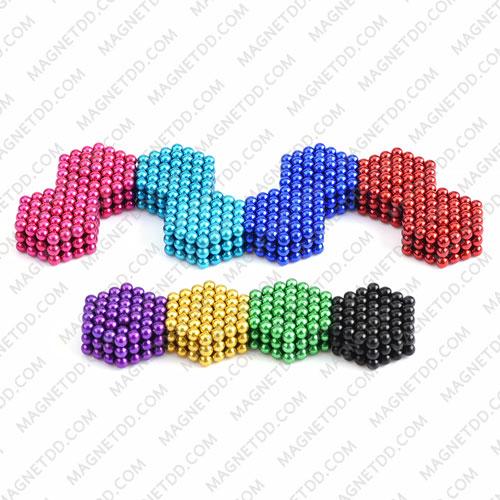 ลูกบอลแม่เหล็กแรงสูง Magnet Ball 5mm - สีฟ้า ชุด 108 ชิ้น แม่เหล็กถาวรนีโอไดเมี่ยม NdFeB (Neodymium)