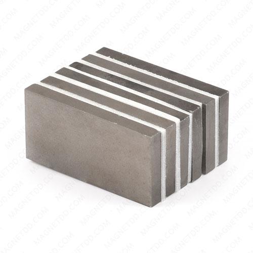 แม่เหล็กแรงสูงทนความร้อน Samarium Se 50mm x 25mm x 5mm แม่เหล็กแรงสูง ทนความร้อน Samarium Cobalt 350C