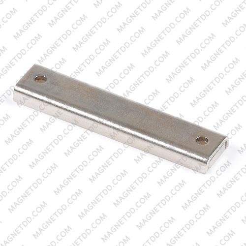 Mounting Magnet สี่เหลี่ยม 60mm x 13.5mm x 5mm รู 3.3mm แม่เหล็กถาวรนีโอไดเมี่ยม NdFeB (Neodymium)