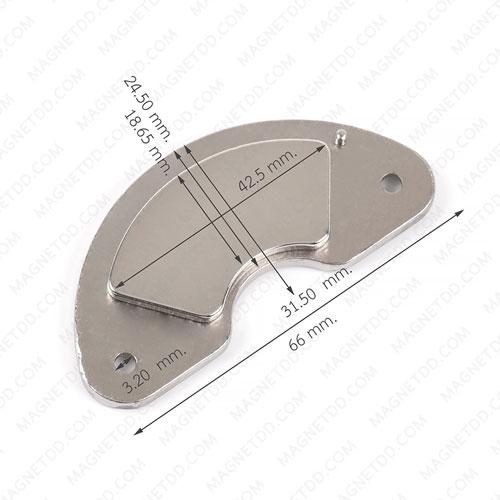 แม่เหล็กฮาร์ดดิส พร้อมฐาน V4 ขนาด 66mm x 24.50mm x 5.25mm แม่เหล็กถาวรนีโอไดเมี่ยม NdFeB (Neodymium)