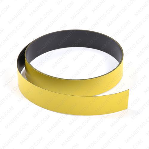 แม่เหล็กยาง เคลือบ PVC ขนาด 20mm x 0.5mm ยาว 1เมตร – สีเหลือง แม่เหล็กถาวรยาง Flexible Rubber Magnets