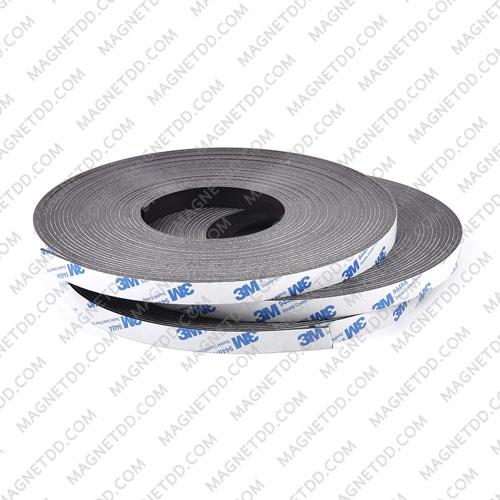 แม่เหล็กยางสติกเกอร์ 3M ขนาด 12mm x 2mm ยาว - 10เมตร [ยกม้วน] แม่เหล็กถาวรยาง Flexible Rubber Magnets