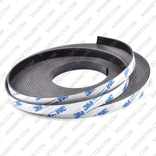แม่เหล็กยางสติกเกอร์ 3M ขนาด 12mm x 2mm ยาว 1เมตร แม่เหล็กถาวรยาง Flexible Rubber Magnets