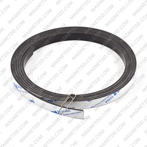 แม่เหล็กยางสติกเกอร์ 3M ขนาด 10mm x 2mm ยาว 1เมตร แม่เหล็กถาวรยาง Flexible Rubber Magnets