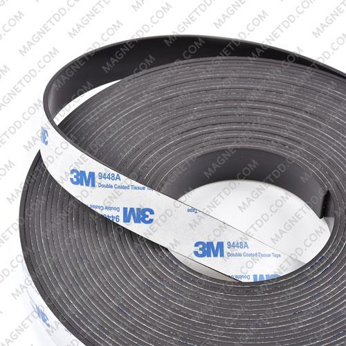 แม่เหล็กยางสติกเกอร์ 3M ขนาด 20mm x 2mm ยาว - 10เมตร [ยกม้วน] แม่เหล็กถาวรยาง Flexible Rubber Magnets
