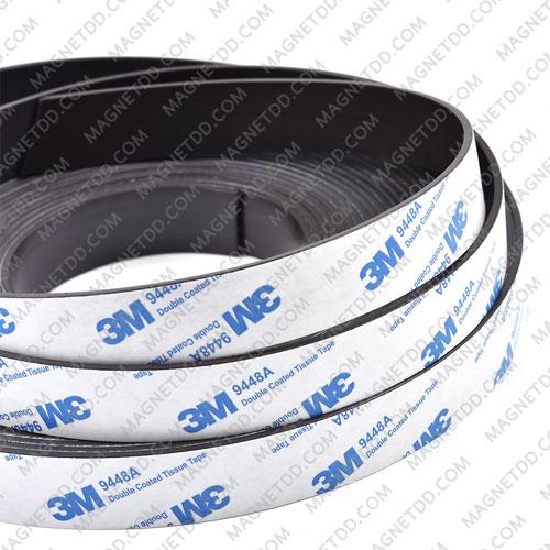 แม่เหล็กยางสติกเกอร์ 3M ขนาด 20mm x 2mm ยาว 1เมตร แม่เหล็กถาวรยาง Flexible Rubber Magnets