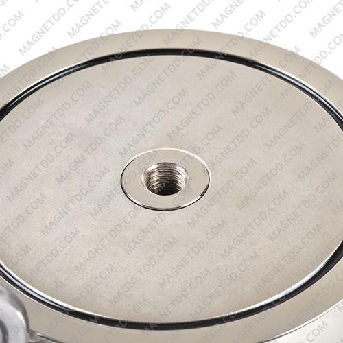 Mounting Magnet 135mm x 40mm รูเกลียว M12 พร้อมห่วง [ดูด 2ด้าน] แม่เหล็กถาวรนีโอไดเมี่ยม NdFeB (Neodymium)