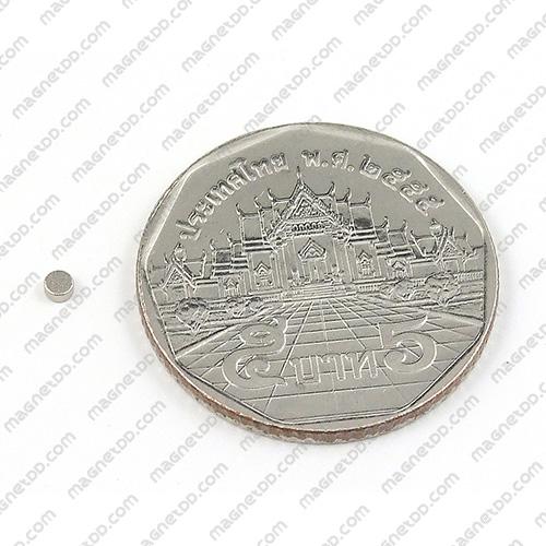 แม่เหล็กแรงสูง Neodymium ขนาด 2mm x 1mm แม่เหล็กถาวรนีโอไดเมี่ยม NdFeB (Neodymium)