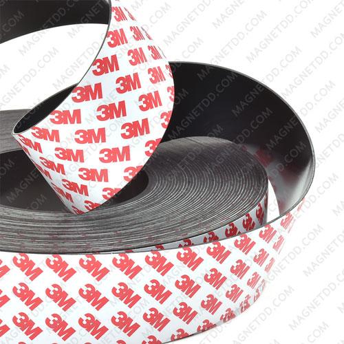 แม่เหล็ก AGV Navigation กาว3M 50mm x 1.2mm ขั้วN - 5เมตร แม่เหล็กถาวรยาง Flexible Rubber Magnets