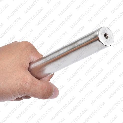 แมกเนติกบาร์ ขนาด 25mm x 200mm Magnetic Bar 2500G รู M6 แม่เหล็กถาวรนีโอไดเมี่ยม NdFeB (Neodymium)