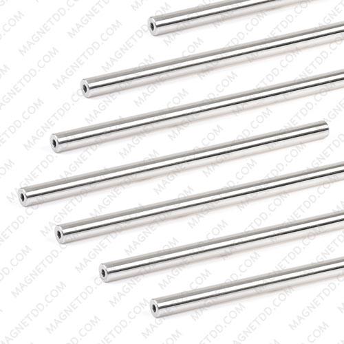 แมกเนติกบาร์ ขนาด 16mm x 300mm Magnetic Bar 7000G รู M6 แม่เหล็กถาวรนีโอไดเมี่ยม NdFeB (Neodymium)