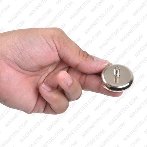 พอทแม็กเน็ต แรงสูง ขนาด 36mm x 6.90mm พร้อมเกลียวนอก M6 แม่เหล็กถาวรนีโอไดเมี่ยม NdFeB (Neodymium)