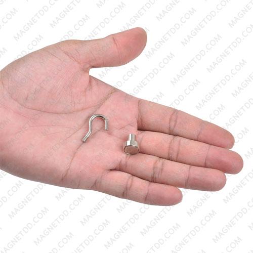ชุดตะขอแม่เหล็กสูง Neodymium ขนาด 12mm แม่เหล็กถาวรนีโอไดเมี่ยม NdFeB (Neodymium)