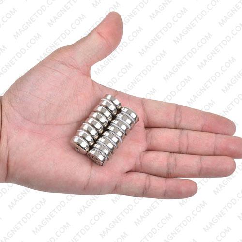 พอทแม็กเน็ตแรงสูง ขนาด 16mm x 5.2mm พร้อมเกลียวใน M3 แม่เหล็กถาวรนีโอไดเมี่ยม NdFeB (Neodymium)